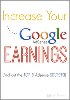 Want to increase your Google Adsense revenue? Read my top 5 Adsense secrets to help you make more money from the ads on your blog.