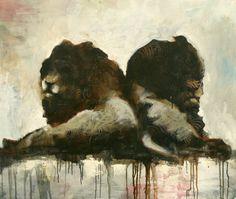"""Mustetahra"" Painting by Samuli Heimonen - the first artist I actually bought a print of Viviane Sassen, Art Studies, Art Education, Finland, Surrealism, Sculptures, Horses, Fine Art, Drawings"