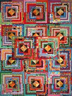 Mumbo Gumbo scrappy quilt class for group with several variations