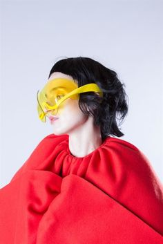 3D printed sunglasses - At the most recent fashion show from Antwerp's Royal Academy of Fine Arts' Fashion School, student designer Dávid Ring sent a se...