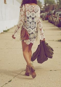 Modern Hippie Crochet Top- Boho Chic Fashion Trends. For MORE Bohemian looks FOLLOW http://www.pinterest.com/happygolicky/the-best-boho-chic-fashion-bohemian-jewelry-gypsy-/