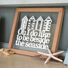 'beside the seaside' papercut by kyleigh's papercuts | notonthehighstreet.com