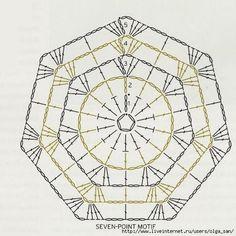 Crochetemoda 7-sided motif
