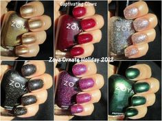 Captivating Claws: Zoya Ornate Holiday Winter 2012/13