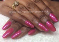 Sparkly pink 2 week manicure CND Shellac. Cnd Shellac, Manicure, Nails, Pink, Beauty, Nail Bar, Finger Nails, Ongles, Polish