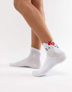 cbb0b59fa Hello Kitty x ASOS DESIGN socks with bow detail Hello Kitty, Asos, Cool  Socks