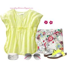 Girl's Outfit: Flower Power, created by angiejane on Polyvore