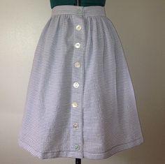 Seersucker picnic blanket skirt for Kaye.