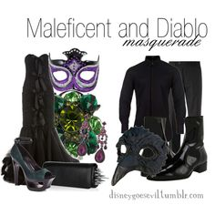 Maleficent and Diablo (Sleeping Beauty) by disney-villains on Polyvore