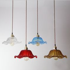 French Floral Glass Ceiling Lamp - pendant lamp - E27 - edison bulb - industrial style - DIY lighting - hanging lamp - Edison bulb lamp by LightwithShade on Etsy https://www.etsy.com/listing/199933974/french-floral-glass-ceiling-lamp-pendant
