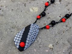 clay jewelry necklace