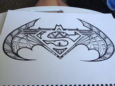 Cool  Superman batman wonder woman symbol Design. by DrawMEGA