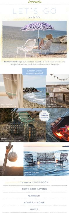 The #summer #living #lookbook at #shopterrain May 13