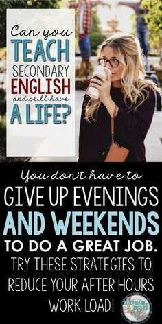 Middle and high school English teachers you DONT have to sacrifice all of your evenings and weekends to move your students forward Check out these strategies and reclaim. High School Classroom, English Classroom, English Teachers, Teaching English, Ela Classroom, Classroom Ideas, High School Teachers, Elementary Schools, Art Teachers