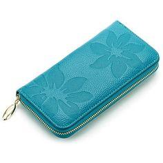 Women Wallets Fashion Flower Pattern Genuine Leather Wallet Women Clutch Wallets Female Vintage Clutch Bag Coin Purse Women