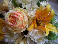 Fresh Look bridal bouquet of Yellows & Whites by StevieAndSonya, $125.00