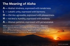 The Meaning of Aloha.