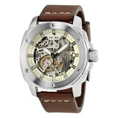 NEW Fossil Modern Machine Men's Automatic Watch – Fossil Watches For Men, Used Watches, Skeleton Watches, Automatic Watches For Men, Brown Band, Casual Watches, Fashion Watches, Chronograph, Brown Leather