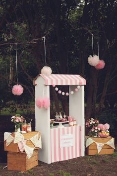 An Adorable Pink Lemonade themed birthday party via Kara's Party Ideas KarasPartyIdeas.com Printables, cake, invitation, desserts, supplies, etc! #lemonadestand #pinklemonadeparty (24)