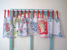 I need to do this with my vintage hankies. to use along with my vintage farmhouse windows
