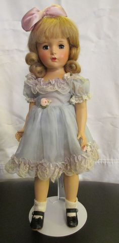 "14"" Wendy Ann French Blue Chiffon Party Dress Madame Alexander Doll vintage"