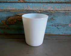 Vintage Milk Glass Juice Glass by turquoiserollerset on Etsy