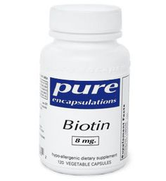Biotin 8mg (8000 mcg) has been proven to encourage hair and nail growth. $17.00