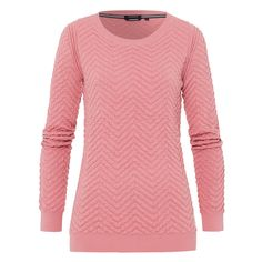 Jumper Atrapeze Soft cotton-blend yarn, structured zig-zag pattern and ribbed cuffs and hem