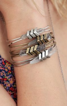 Jewelry Chevron Aura Cuff