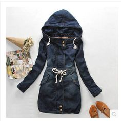 >> Click to Buy << 2014 New Arrival Jeans Jacket Women Long Section sobretudo Thick Warm Cotton Padded Denim Coat Winter Clothes S387 #Affiliate