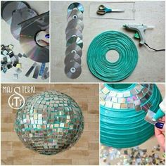 to make a disco ball? It& easy. Check out our tutorial and enjoy carn. How to make a disco ball? It's easy. Check out our tutorial and enjoy carn., How to make a disco ball? It's easy. Check out our tutorial and enjoy carn. New Years Party, Decade Party, Paper Lanterns, Party Planning, Party Time, Birthday Parties, Disco Theme Parties, Disco Party Decorations, Dance Party Birthday
