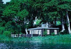 Denmark summer house   Dark Grey with white trim