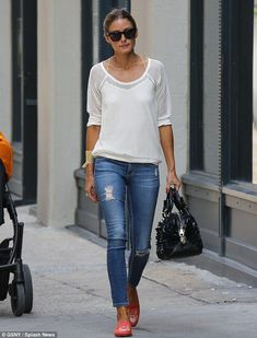 Always chic: Olivia Palermo even manages to make a simple outfit chic and elegant as she is seen in New York on Saturday