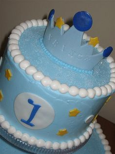 Lil' Prince First Birthday Cake Crown by Frost Cake Co., via Flickr