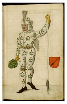 "Illustrations from a century manuscript detailing the phenomenon of Nuremberg's Schembart Carnival, (literally ""bearded-mask"" carnival). Pierrot, 17th Century Art, Bizarre, Illustration, Italian Renaissance, Medieval Art, Weird And Wonderful, Illuminated Manuscript, British Museum"