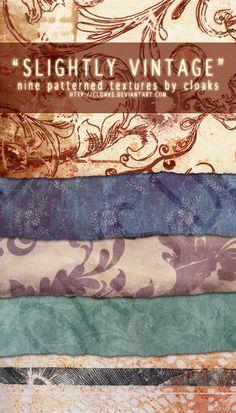 Slightly Vintage Texture Pack by cloaks.deviantart.com on @deviantART