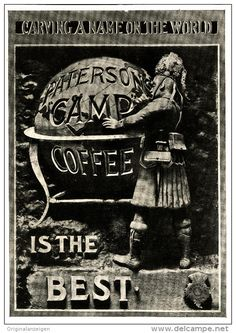 Original - Anzeige / Advertise 1903 : (ENGLISH) - PATTERSON'S CAMP COFFEE  - 120 x 175 mm