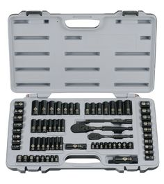 Stanley 92-824 Black Chrome and Laser Etched 69-Piece Socket Set - Socket Wrenches  Any socket set that has a good amount of pieces (50+). I had a set but lost them in the move and need them to work on the bikes