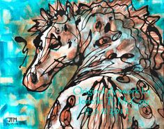 "Contemporary Artists of Oklahoma: Abstract Horse Art by Oklahoma Contemporary Equine Artist Jonelle T. McCoy ""I'm so Appy!"""