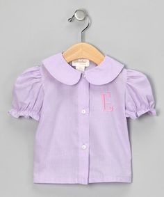 Take a look at this Purple & Pink Initial Blouse - Infant, Toddler & Girls on zulily today!