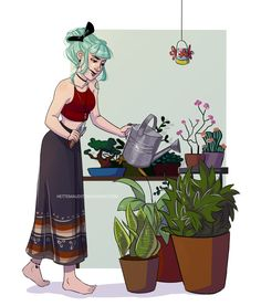 Take care of our plants by HetteMaudit.deviantart.com on @DeviantArt