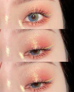 Creative Eye Makeup, Eye Makeup Art, Kiss Makeup, Eyeshadow Makeup, Beauty Makeup, Hair Makeup, Makeup Eyes, Kawaii Makeup, Cute Makeup