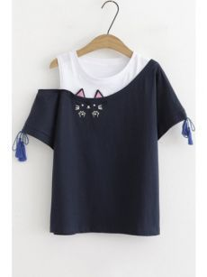 Crop Top Outfits, Cute Casual Outfits, Casual T Shirts, Casual Tops, Stylish Outfits, Girls Fashion Clothes, Teen Fashion Outfits, 90s Fashion, Trendy Fashion
