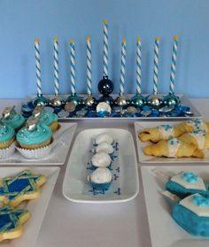 Hanukkah dessert table