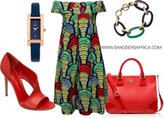 GET THE LOOK // BOT I LAM BOLD PRINT FABRIC KABA DRESS