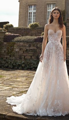 GALA by Galia Lahav Fall 2021 Collection. www.theweddingnotebook.com Top Wedding Dresses, Lace Mermaid Wedding Dress, Camilla, Nude Gown, The Bride, Bridal Reflections, Couture Wedding Gowns, Bridal Gowns, Tulle Ball Gown