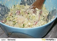 Lehký cottage salát recept - TopRecepty.cz Czech Recipes, Russian Recipes, Raw Food Recipes, Low Carb Recipes, Salad Recipes, Snack Recipes, Cooking Recipes, Healthy Recipes, Ethnic Recipes