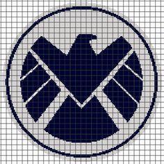 (4) Name: 'Crocheting : MARVEL S.H.I.E.L.D Graphghan Pattern