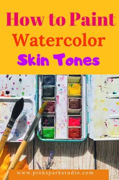 Learn how to mix watercolor skin tones from light to dark. Create your own custom skin tones. Watercolor Journal, Watercolor Tips, Watercolour Tutorials, Watercolor Techniques, Watercolor Paintings, Watercolors, Watercolor Skin Tones, Art Journal Tutorial, Art Projects