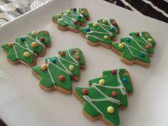 Galletas de mantequilla en forma de árbol navideño | Recetas para niños